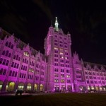 SUNY Plaza Goes Purple
