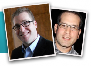 Eric Reich, J.D. and MBA '02, and Michael Weisman, MBA '01