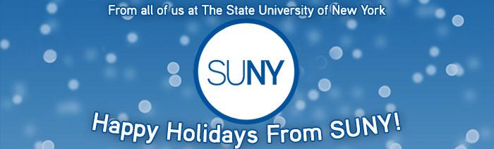 Happy Holidays from SUNY