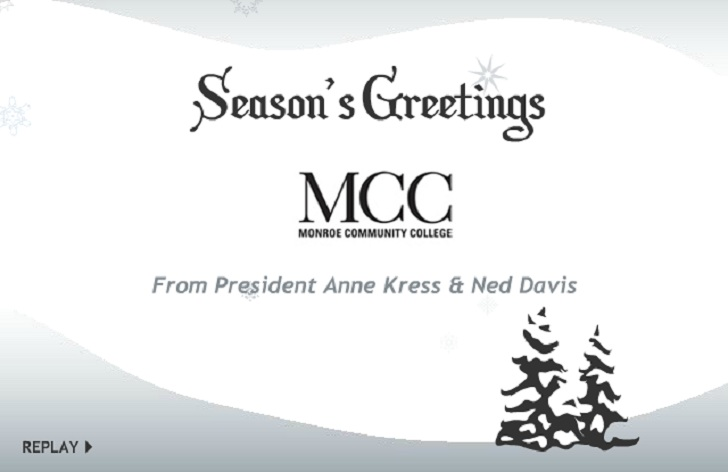 monroe community college holiday card 2012