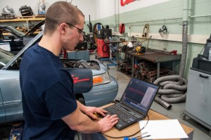 Morrisville student in Automotive Technology