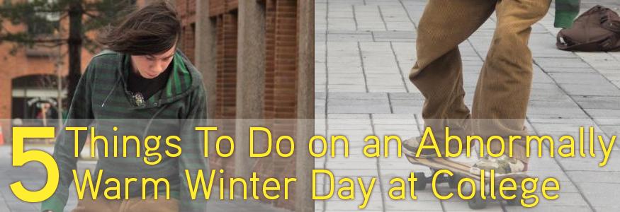 Warm winter day