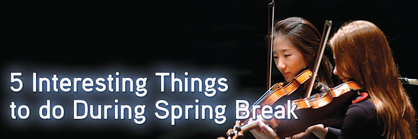 5 Interesting Things to do During Spring Break