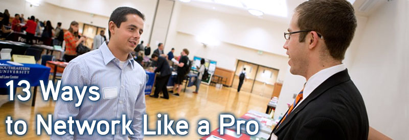 13 ways to network like a pro