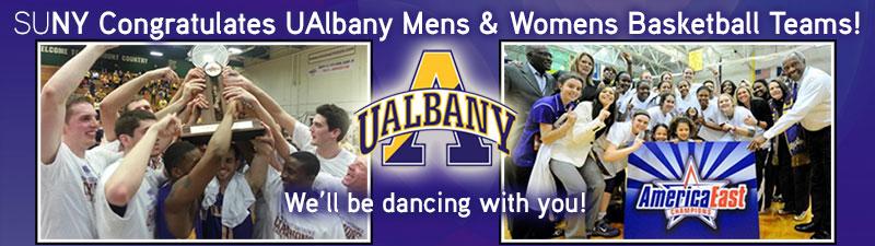 Congratulations UAlbany mens and womens basketball teams!