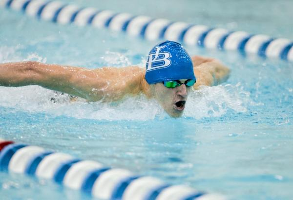University of Buffalo swim team member
