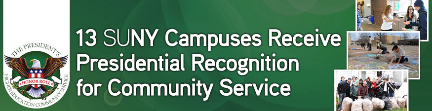 13 SUNY Campuses Receive Presidential Recognition for Community Service