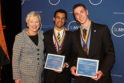 Chancellor's Award for Student Excellence recipients from SUNY Ulster