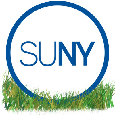 SUNY logo in the grass