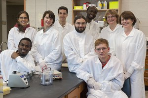 Biotechnology students at Hudson Valley Community College