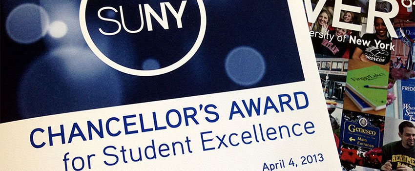 2013 Chancellor's Award for Student Excellence header