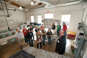 Students explore the TEC-SMART GE Wind Technology Lab at Hudson Valley CC, which is one of 30 SUNY community colleges to be affected by the $14.6M U.S. Dept. of Labor grant.