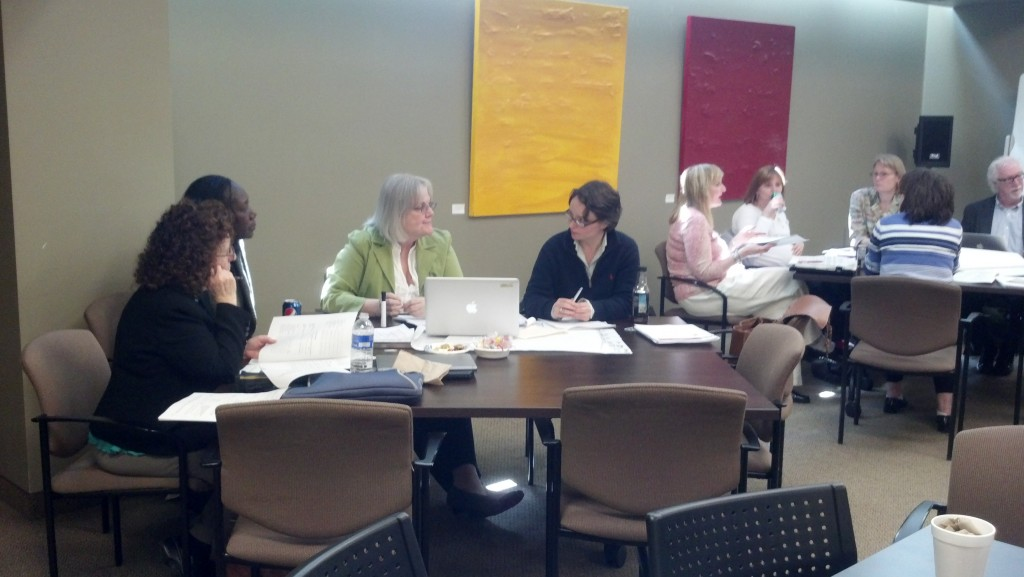 Central New York S-TEN members discuss teacher education at a Spring workshop