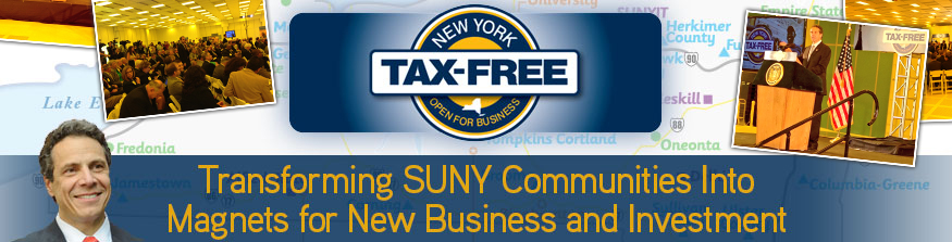 Tax Free NY showcase - Transforming University Communities into Magnets for New Business and Investment