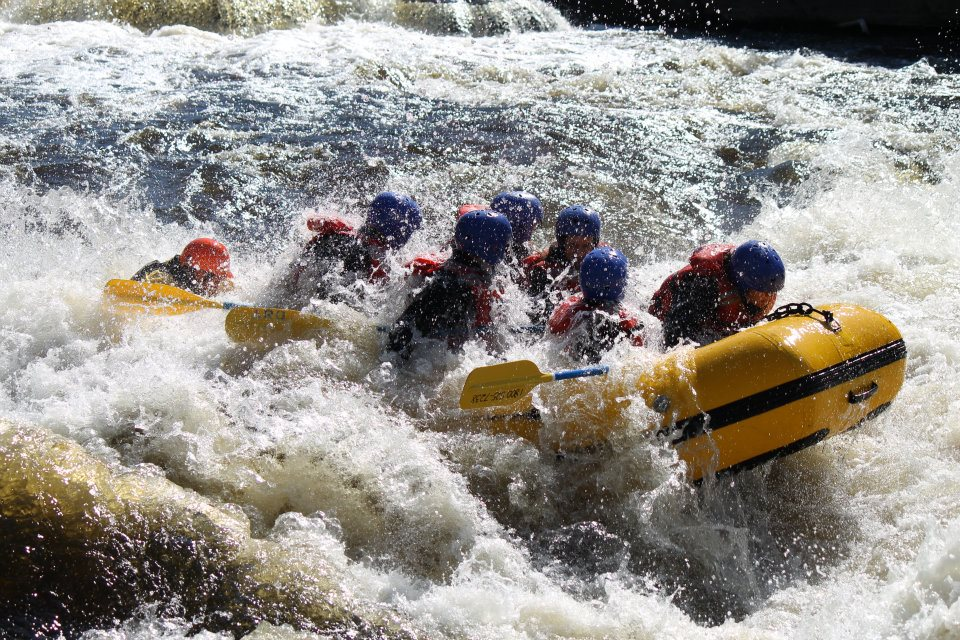 Herkimer County Community College rafting