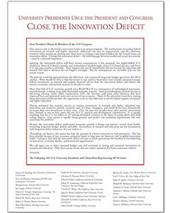 Close the Innovation Deficit ad from Politico