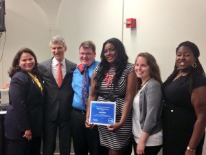 STEM mentors receive recognition from Senior Vice Chancellor for Community Colleges and the Education Pipeline, Johanna Duncan-Poitier
