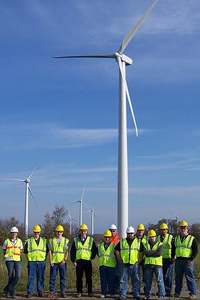 SUNY Canton wind turbine