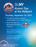 SUNY Alumni Day at the Ballpark