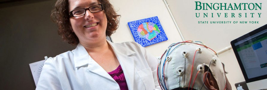 Sarah Lazlo of Binghamton University studies the brain for dyslexia