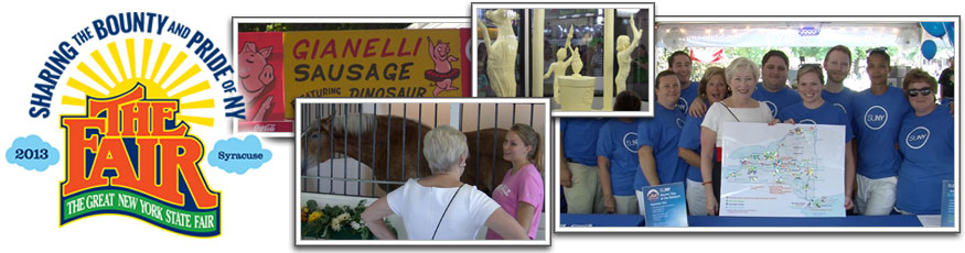 Reasons to attend the New York State Fair. SUNY staff at various fair exhibits
