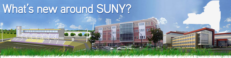 What's new around SUNY? (new construction buildings)