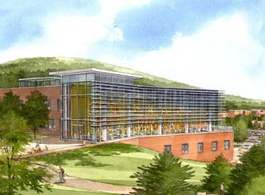 Artists rendition of the Student Leadership Center at SUNY Oswego