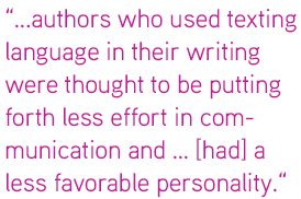 """author who used texting"""