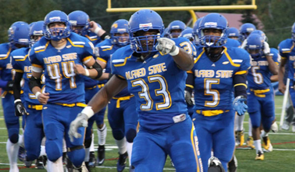 Alfred State football players
