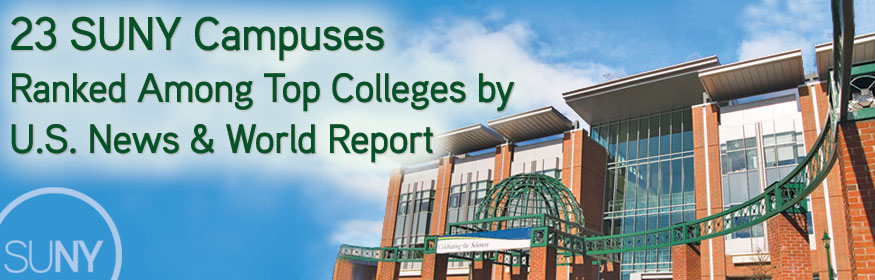 23 SUNY Campuses Ranked Among Top Colleges by U.S. News & World Report
