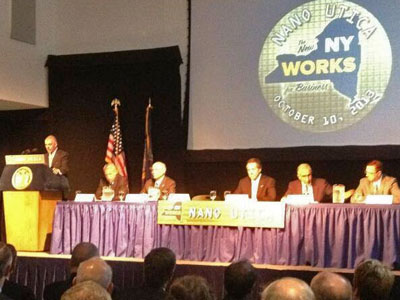 Governor Cuomo and others at the unveiling of Nano-Utica at SUNYIT