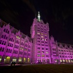 "SUNY Plaza ""Shines the Light"" for Domestic Violence Awareness Month"