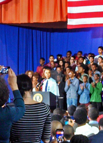 President Obama speaks at P-TECH