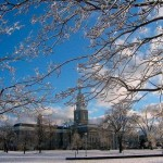 UBuffalo campus with November snow