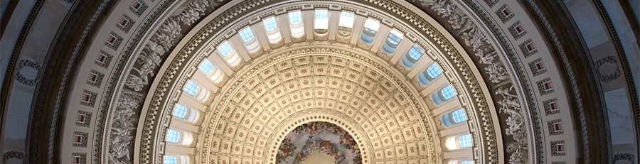 picture of the ceiling of the US Capitol building