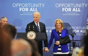 Vice President Joe Biden and his wife Jill Biden at Monroe Community College