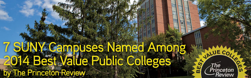 7 SUNY Campuses Named Among 2014 Best Value Public Colleges by The Princeton Review