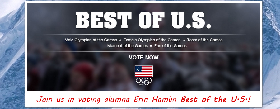 Vote Erin Hamlin Best of U.S. Sochi 2014