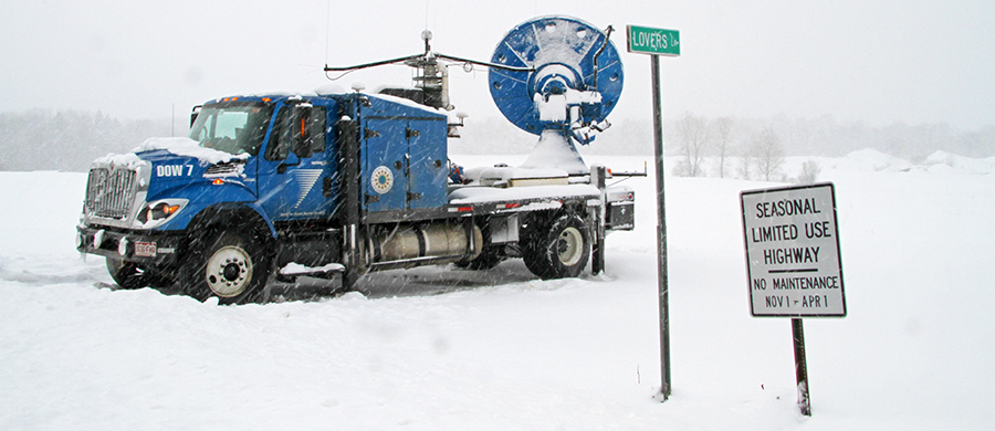 Lake Effect Snow Research truck with radar