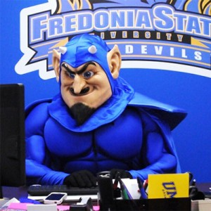 SUNY Fredonia - Mike the Blue Devil