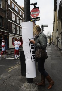 Padded Lamp Posts to prevent people from bumping into them Introduced in London