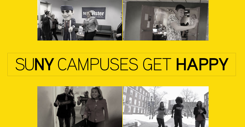 SUNY Campuses Get Happy dancing to Pharrell WIlliams song Happy