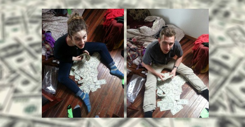 students find money in couch