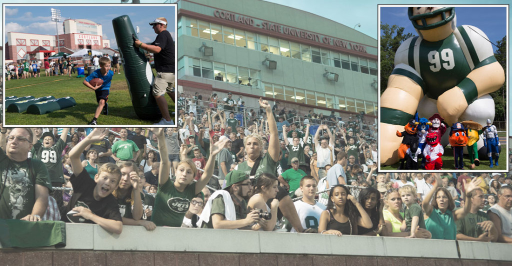 Images from NY Jets training camp at SUNY Cortland.