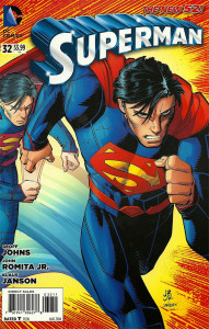 Cover of John Romita Jr's first Superman comic for DC Comics.