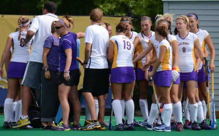 The UAlbany field hockey team defeated No. 2 Maryland,   advancing to an NCAA Tournament Final Four for the first time in school history.
