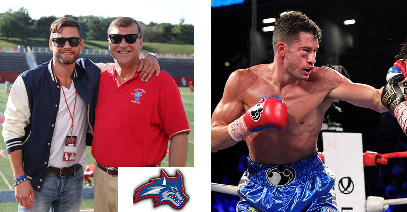Chris Algieri at Stony Brook University and in a boxing match