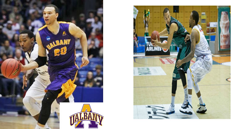 Gary Johnson playing basketball for UAlbany and in Asia