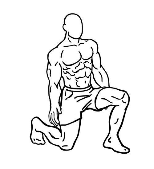 Person doing exercise lunges