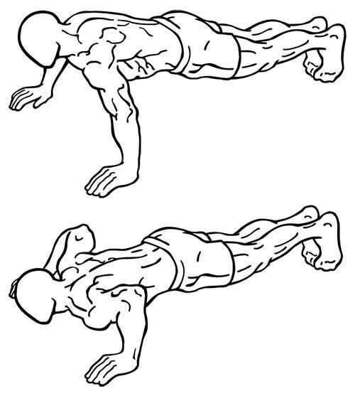 person doing pushups